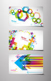 Set of gift cards with symbols. Royalty Free Stock Photography