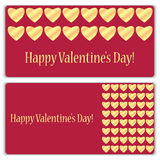 Set of gift cards for Valentine's Day Stock Photography
