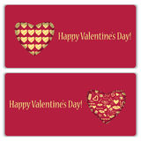 Set of gift cards for Valentine's Day Royalty Free Stock Photo