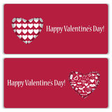 Set of gift cards  for Valentine's Day Stock Photos