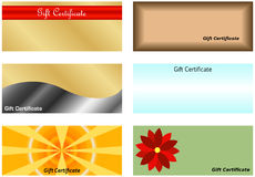 Set of Gift Certificates Royalty Free Stock Photography
