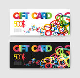 Set of gift (discount) voucher cards Stock Photo