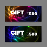 Set of gift (discount) voucher cards Royalty Free Stock Photography