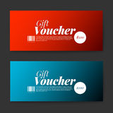Set of gift (discount) voucher cards Royalty Free Stock Images