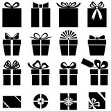 Set of gift icon Royalty Free Stock Photos