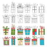 Set of gift packages, Christmas gifts Royalty Free Stock Photography