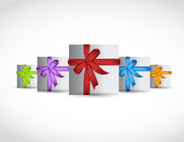 Set of gift, presents. illustration design Stock Photos