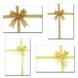 Set of gift ribbon and bow Royalty Free Stock Photos