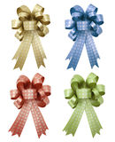 Set of gift ribbon and bow Isolated Stock Photo