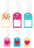 Set of gift tags Royalty Free Stock Image