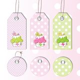 Set of Gift tags Royalty Free Stock Images