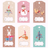 Set of gift tags Royalty Free Stock Photos