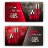 Gift voucher cosmetic Stock Photos
