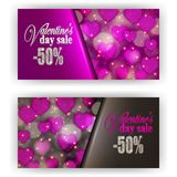 Gift voucher valentine Royalty Free Stock Photos