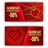 Gift voucher valentine Stock Photo