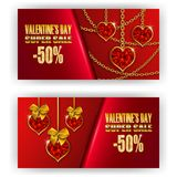 Gift voucher valentine Stock Photography
