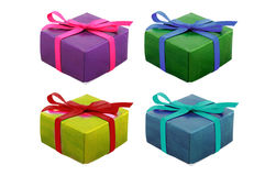 Set of gift on white Stock Image