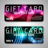 A set of gift (discount) cards Stock Photo