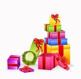 Set of gifts Stock Photos