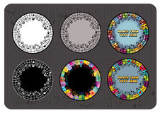 Set of gifts. Set of abstract gifts. vector round banners Royalty Free Stock Photography
