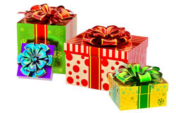 Set of gifts with bows Royalty Free Stock Image