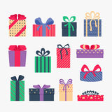 Set of gifts. Royalty Free Stock Images
