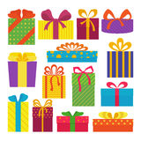 Set of gifts. Royalty Free Stock Image