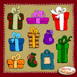 Set of gifts Stock Photo