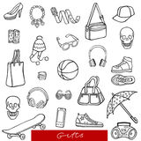 Set of gifts vector Royalty Free Stock Images