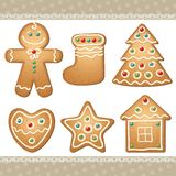 Set of gingerbread Royalty Free Stock Images