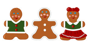 Set of gingerbread cookies Royalty Free Stock Photography