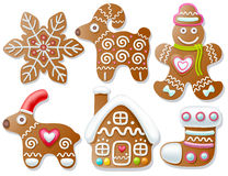 Set of gingerbread Royalty Free Stock Photography