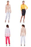 Set of girl  in various clothes Royalty Free Stock Images