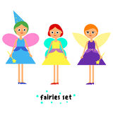 Set of girls fairy Stock Photography