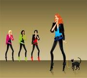 Set of glamour girls Stock Image