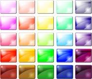 Set glansowane guzik ikony Obraz Stock