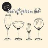 Set Glas Stockfoto