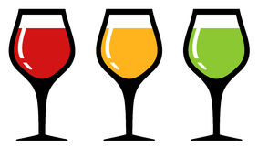 Set glass with alcohol beverage Royalty Free Stock Images
