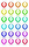 Set of glass balls icons. Set of transparent glass balls icons Stock Photography