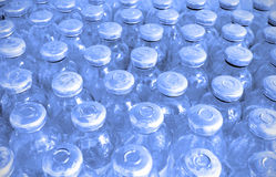 Set of glass bottles with medicine Royalty Free Stock Images