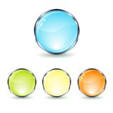 Set glass button Stock Photography
