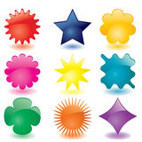 Set of glass buttons Stock Photography