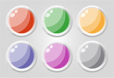 Set of glass buttons Stock Images