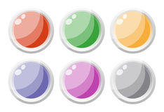 Set of glass buttons Royalty Free Stock Images