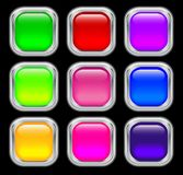 Set of glass buttons Royalty Free Stock Photos