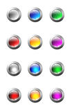 Set of glass buttons stock illustration