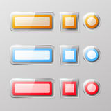 Set of glass buttons Stock Image
