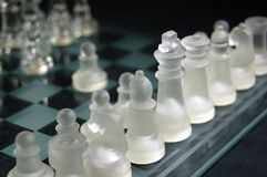 Set of glass chess Stock Photos
