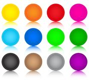 Set of glass coloured buttons Royalty Free Illustration