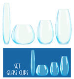 Set of glass cups Royalty Free Stock Image